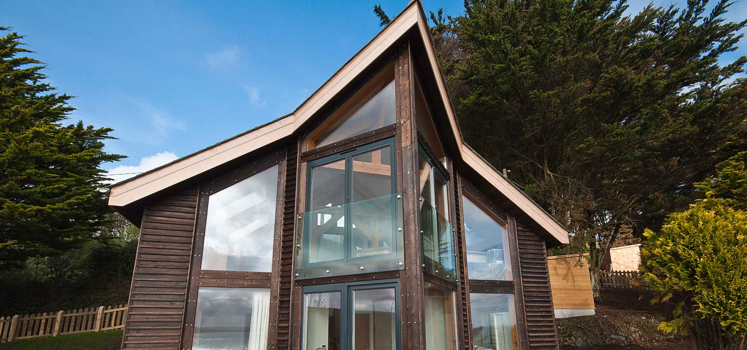 The Chalet architecture in Cornwall